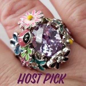 Park Lane Fairytale Lavender ring size 8 avail NIB